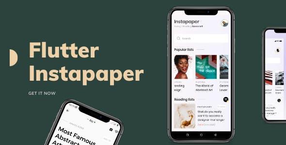 Flutter Instapaper redesign