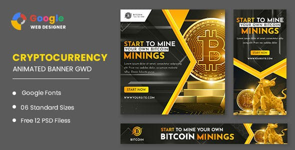 Cryptocurrency Animated Banner GWD