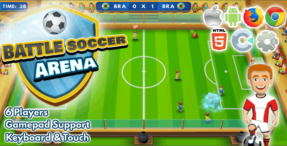 Battle Arena Soccer ( 3 x 3 Players )  C2 | C3 | HTML5