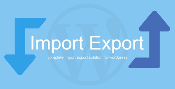 WP Import Export - CodeCanyon Item for Sale