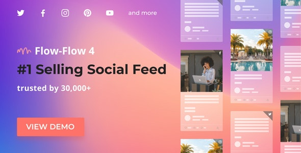 Flow-Flow v4.8.5 – WordPress Social Stream Plugin