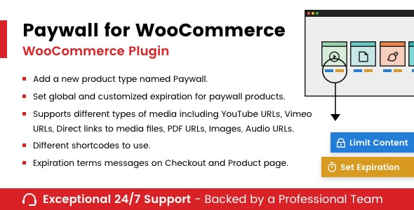 Paywall for WooCommerce