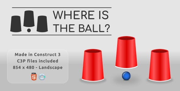 Where is the ball? - HTML5 Casual game