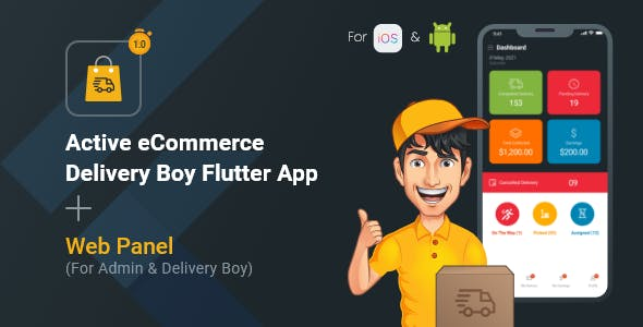 Active eCommerce Delivery Boy Flutter App