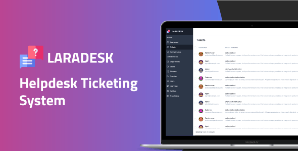 Laradesk - Helpdesk Ticketing System - CodeCanyon Item for Sale