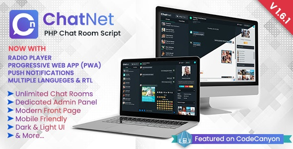 ChatNet v1.7 – PHP Chat Room & Private Chat Script – nulled