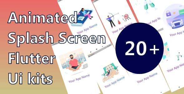 Flutter 20+ Animated Splash Screen Ui kit | Ready To Use