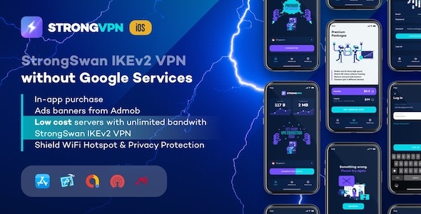 StrongVPN - StrongSwan IKEv2 VPN stable & free VPN proxy for iOS - CodeCanyon Item for Sale