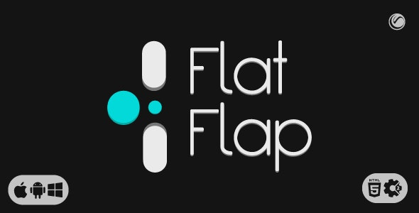 Flat Flap   HTML5 • Construct Game - CodeCanyon Item for Sale