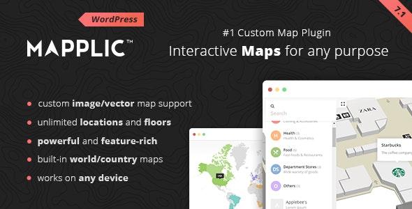 Mapplic - Custom Interactive Map WordPress Plugin - CodeCanyon Item for Sale