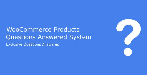 WooCommerce Products Questions Answered System