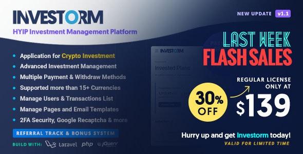 Investorm v1.1.0 – Advanced HYIP Investment Management Platform – nulled