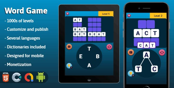 Word Game - HTML5 game (Construct 3)