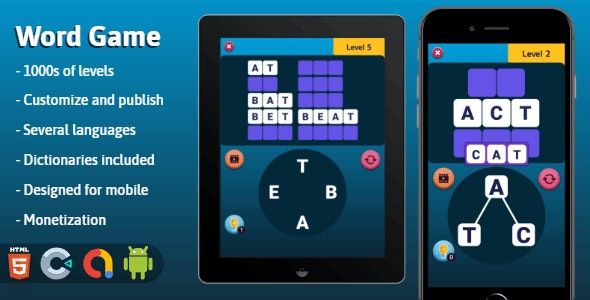 Word Game - HTML5 game (Construct 3) - CodeCanyon Item for Sale
