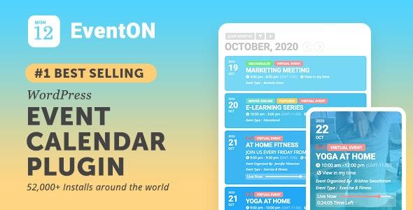 EventON - WordPress Event Calendar Plugin - CodeCanyon Item for Sale