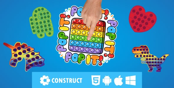 Pop it Fidget - HTML 5 Mobile Game - CodeCanyon Item for Sale