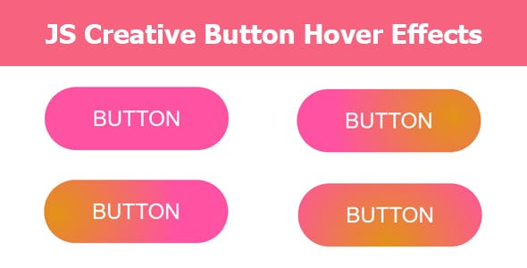 JS Creative Button Hover Effects