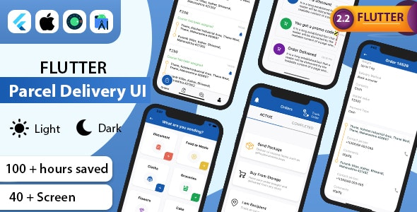 Flutter Parcel Delivery UI Kit Template - CodeCanyon Item for Sale