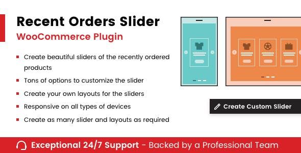 Recent Orders Slider