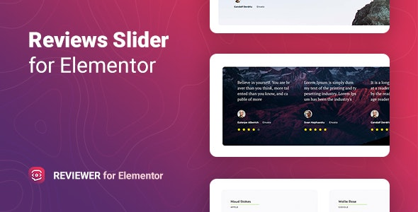 Reviewer v1.0.2 – Reviews Slider for Elementor