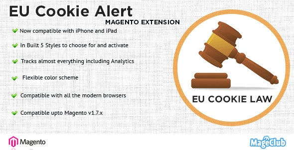 EU Cookie Alert Magento Extension - CodeCanyon Item for Sale