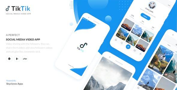 TikTik Social Media Application for the Videos