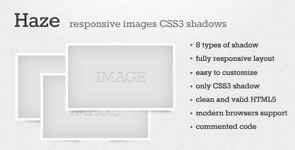 Haze - Responsive Images CSS3 Shadow