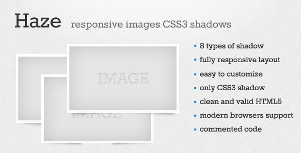 Haze - Responsive Images CSS3 Shadow - CodeCanyon Item for Sale
