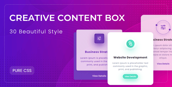 Collection set of CSS3 Content Box