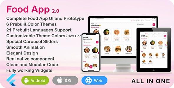 Food App - Flutter UI Theme