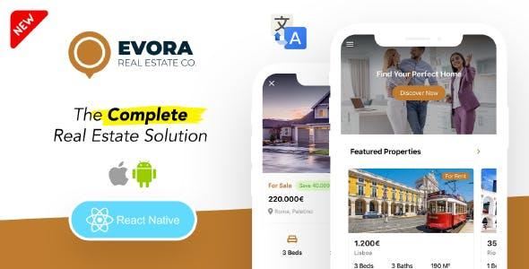 Evora - Real Estate Complete Solution React Native App