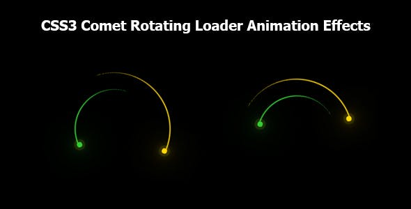 CSS3 Comet Rotating Loader Animation Effects
