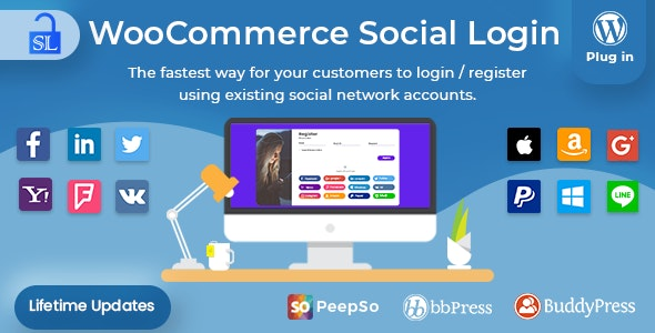 Social Login - WordPress / WooCommerce Plugin - CodeCanyon Item for Sale