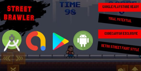 Street Brawler - Android Studio Template + BuildBox Project - Android Game