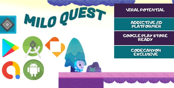 Milo Quest - Android Studio - BuildBox - Full Game Template