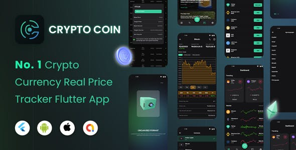 CryptoCoin: Flutter Full cryptocurrency app for live tracking and watching cryptocurrencies rates