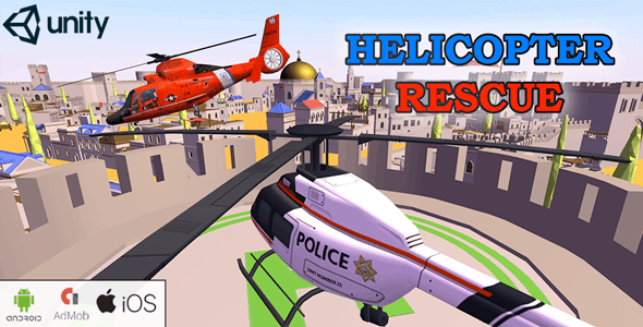 Helicopter Rescue 3D   Android & iOS - CodeCanyon Item for Sale