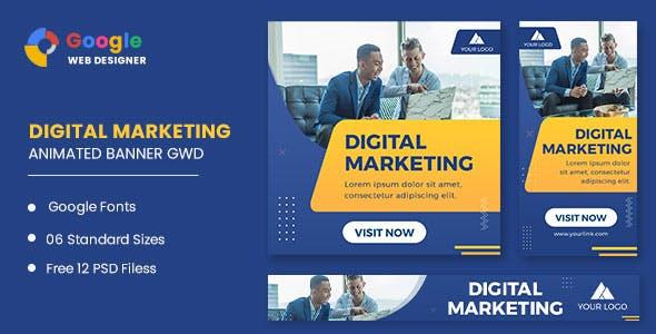 Digital Marketing Animated Banner Google Web Designer