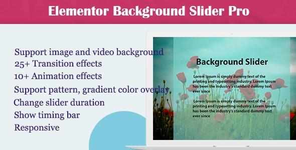 Elementor - Background Slider Pro - CodeCanyon Item for Sale