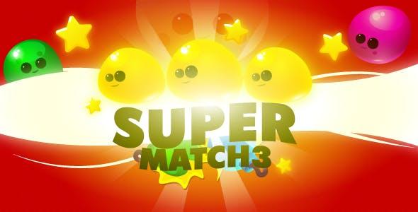 Super Match3 - HTML5 game, mobile control