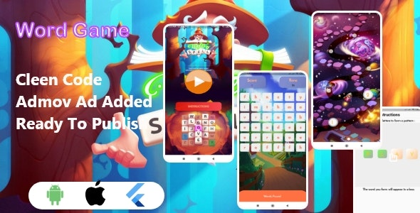 Flutter Word Game With Admob Ad | Android - CodeCanyon Item for Sale