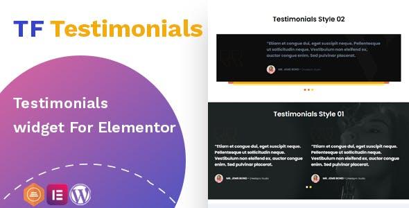 Testimonials widget For Elementor