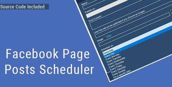 Facebook Page Posts Scheduler - (Source Code Inclu - CodeCanyon Item for Sale