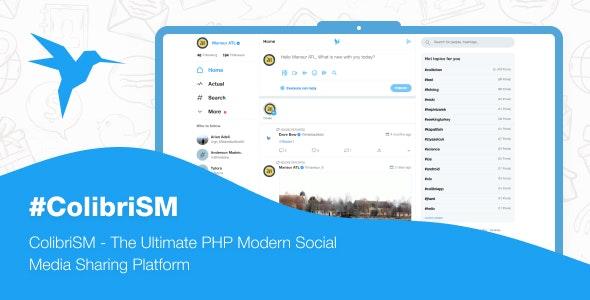 ColibriSM v1.2.4 – The Ultimate PHP Modern Social Media Sharing Platform