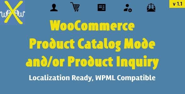 WooCommerce Product Catalog Inquiry