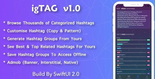 igTAG : Hashtags for Instagram & TikTok