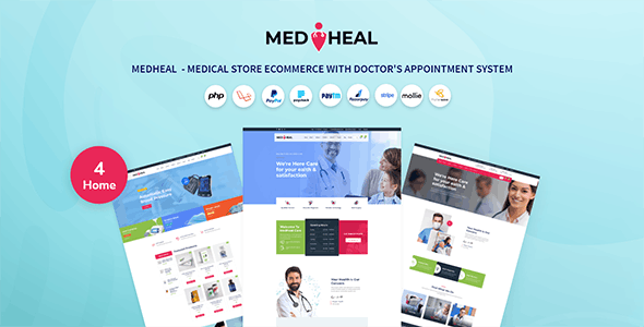 Medheal  - Medical store eCommerce with doctor appointment system