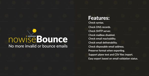 nowiseBounce - Deep email validator and bounce checker