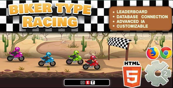 Biker Type Racing ( Educational Game | CAPX , C3P , HTML5 ) - CodeCanyon Item for Sale