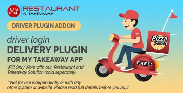 Driver App Login - Drivers can View Orders, Get Directions, Navigate and Mark Order as Delivered - CodeCanyon Item for Sale